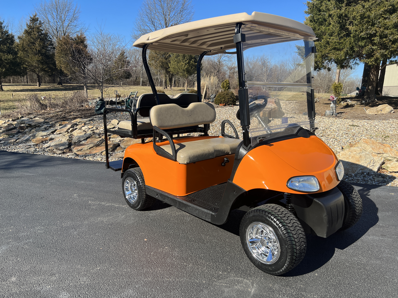 For Sale - B & B Golf Carts Inc. Red Lifted Golf Cart Freedom Se on